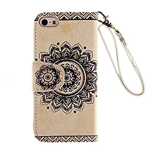 Kshop Case & Smile and Lips or Smoking Cover for Iphone 5 °C Phone Premium PU Brown Leather Phone Case Book Style Mobile Phone Protective Cover Case Magnetic Closure - Metal Touch Pen Golden from KSHOP