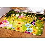 CHAQLIN Fantastische Fußmatte Cool Abstraktes Totenkopf Muster Fußmatte Teppich Indoor/Outdoor/Front Tür/Badezimmer Matten Schlafzimmer Fußmatte