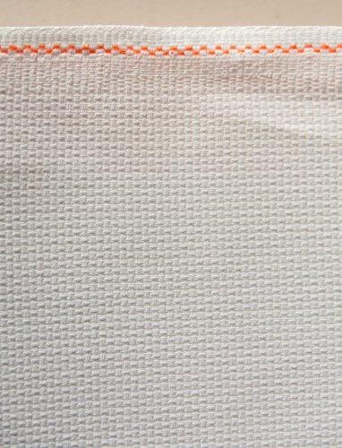 Zweigart Aida-Stoff weiß 16 für Kreuzstich, 5,5 Stiche/cm, 55 x 50 x 21 cm (19 Zoll)