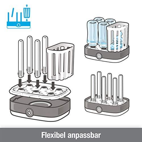 NUK Vario Express Dampf-Sterilisator für bis zu 6 Babyflaschen, Sauger & Zubehör - 4