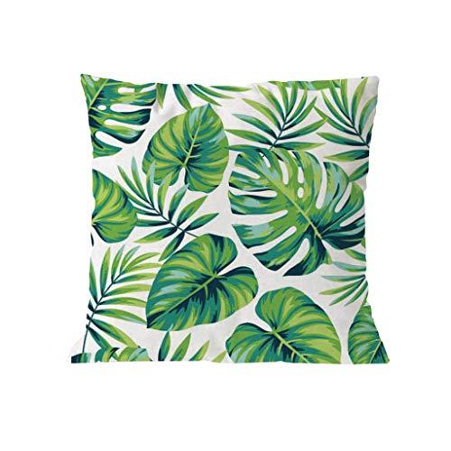 SO-buts Plant Floral Bedruckte Flachs European Style Mixed Kissenbezug 45x45, Plant Farbdruck Leinen European Mix and Match Kissenbezug Kissen(F)