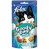 Felix Goody Bag Seaside Mix Cat Treats Flavoured with Salmon Pollock and Trout, 60g