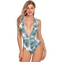 701e087a8 Modfine Traje de baño de Mujer Una Pieza Traje de baño de Mujer Sexy Bikini  Acolchado