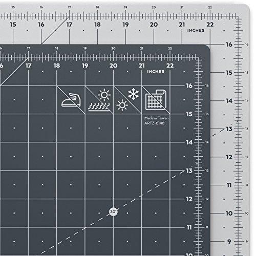 ARTEZA Tappetino da Taglio Autorigenerante, Base di Taglio Formato 45.7cm-61cm (18 x 24'), Spessore 3mm, Griglia Girevole Professionale in Pollici, Per Patchwork, Cucito Creativo, Scrapbooking
