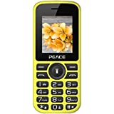 Peace P4 Yellow Black 1.8 Inch, Dual Sim Mobile Phone With 850 MAh Battery, Wireless FM, Bluetooth, Digitel Camera, Call Recording, MP4, Internet & 1 Year Warranty