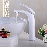 XXTT-Miscelatore lavabo Rubinetto di lavabo bianco intensificando in ceramica di alta qualità Rubinetto del bagno