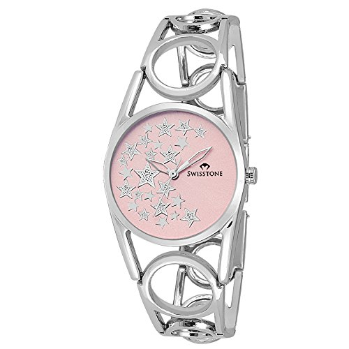 SWISSTONE-Analogue-Pink-Dial-Womens-Watch-Dzl147-Pnk