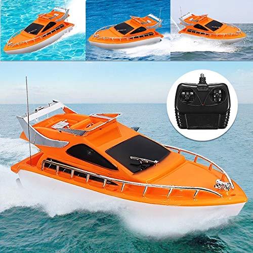 XuBa Orange Mini RC Boote Kunststoff Elektrische Fernbedienung Speed Boot Kinder Kinder Kinder Kinder Spielzeug 26 x 7,5 x 9 cm Wie abgebildet