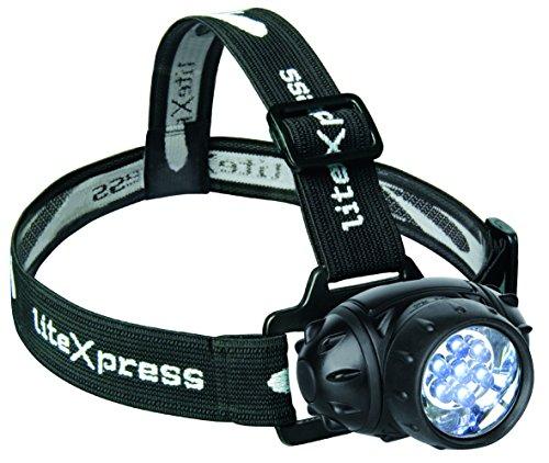 LiteXpress Liberty 102 - Linterna de cabeza, 7 LED de 5 mm,...