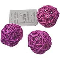 10 piezas Bolas de ratán mimbre mesa boda fiesta Navidad decoración 6cm Púrpura poco profundo