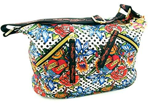 Ed Hardy 1ANY033POL-Multi Handtasche, Damentasche, Henkeltasche, Handbag - Mehrfarbig 30 cm -