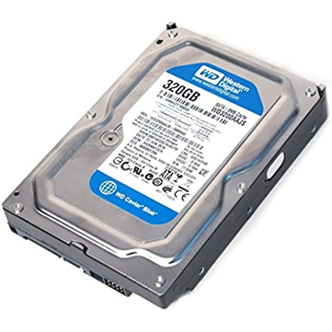Western Digital (WD) WD3200AAJS Caviar Blue SATA II 7200 RPM 8 MB Cache Bulk/OEM Desktop Hard Drive for PC, Mac, CCTV DVR, NAS, RAID- 1 Year Warranty (320GB), [Importado de