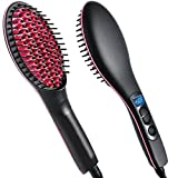#10: Qualimate Simply Straight 2 In 1 Ceramic Hair Straightener Brush - Black