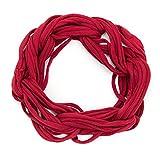 MANUMAR Loop-Schal für Damen einfarbig | feines Hals-Tuch in weinrot als perfektes Herbst Winter Accessoire | Schlauch-Schal | Damen-Schal | Rund-Schal | Geschenkidee für Frauen und Mädchen