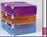 Acelectronic Schuhbox, 10-er Set Clear Plastik Damen Schuhkasten Lagerkasten Boxen,Aufbewahrung Schuhschachtel Schuhe Faltbare Halter,Multifunktional Organiser - 8