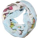 ManuMar Loop-Schal für Damen | Hals-Tuch mit Schmetterling-Motiv als perfektes Sommer-Accessoire | Schlauch-Schal - Das ideale Geschenk für Frauen