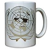 UNO Abzeichen Vereinte Nationen Blauhelm Truppen Barett Militär Friedenseinsatz Mission - Tasse Kaffee Becher #9553