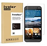 HTC One M9 Protection écran, iVoler® Film Protection d'écran en Verre Trempé Glass Screen Protector Vitre Tempered pour HTC One M9- Dureté 9H, Ultra-mince 0.20 mm, 2.5D Bords Arrondis- Anti-rayure, Anti-traces de doigts,Haute-réponse, Haute transparence- Garantie de Remplacement de 18 Mois