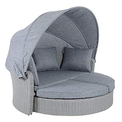 Azuma Milan Grey Rattan Day Bed Garden Furniture