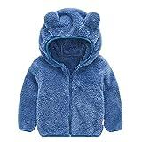 Elecenty Giacche Bambino Invernali Coniglio Cappuccio Cappotto Con Cappuccio Spesso Con Cerniera Outwear Abbigliamento