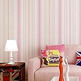 Wallpaper Wasserdichte Tapete selbstklebende Wandbild Enzyklopädie Tapete Mädchen Schlafzimmer Zimmer frische Tapete (0,53x3m) (Color : Rosa)
