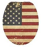 EISL High Gloss WC-Sitz AMERICAN FLAG mit Absenkautomatik, EDHGAF01