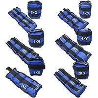TekBox® Ankle Weights For Resistance Strength Training Exercise Gym Wrist Bracelets Straps 1kg, 2kg, 3kg, 5kg, 6kg