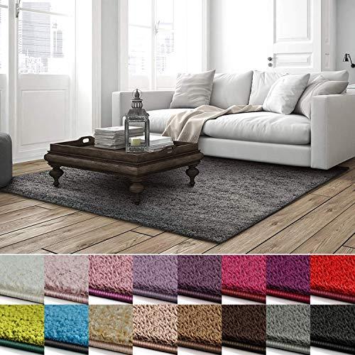 casa pura Shaggy Teppich Barcelona | weicher Hochflor Teppich für Wohnzimmer, Schlafzimmer, Kinderzimmer | GUT-Siegel + Blauer Engel | Verschiedene Farben & Größen | 200x240 cm | Grau