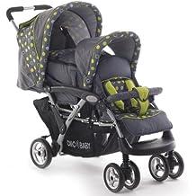 CHIC 4 BABY Geschwisterwagen Duo inkl. Babytragetasche und Regenschutzhaube, verschiedene Designs