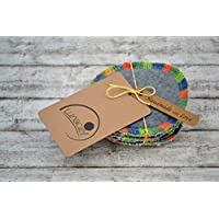 Peelingpads aus Bio-Baumwolle, 5 Stück, Kosmetikpad, Abschminkpad, Reinigungspad, bunt, creme, beige, natur, grau, dunkelgrau