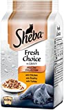 Sheba Mini Pouch Fresh Choice Poultry Selection in Gravy, 6 x 50 g Pouches