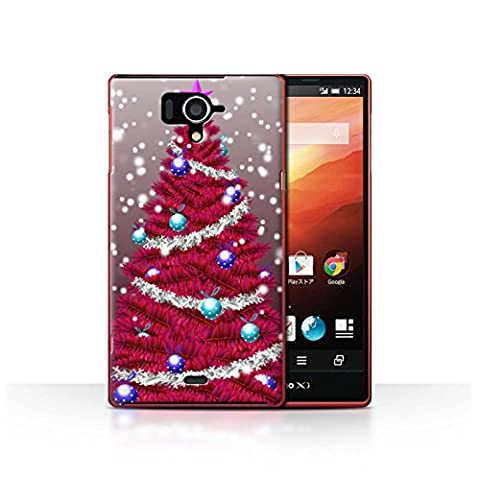 Coque de Stuff4 / Coque pour Sharp Aquos Zeta SH-04F / Rouge Design / Sapin/Arbre de Noël Collection