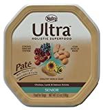 NUTRO ULTRA Senior Pate Dog Food, Chicken, Lamb & Salmon Entrée With Pieces of Vegetables & Fruits 3.5 oz. (Pack of 24); Rich in Nutrients and Full of Flavor