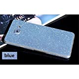 #5: Heartly Sparking Bling Glitter Crystal Diamond Protective Film Whole Body Phone Skin Sticker For Samsung Galaxy A5 (2016) - Light Blue
