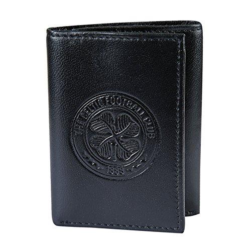 Celtic FC officiel - Portefeuille en cuir thème football - blason embossé - argent/voyage