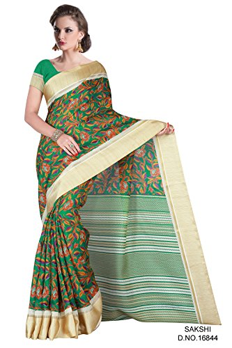 Green and Beige Saree Manipuri Silk Saree Awesome Designer Saree (Shakshi/16844)