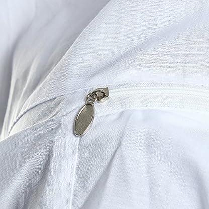 Bee Suit, OUTERDO Protective Beekeeping Veil Smock Beekeeper Suit Coat Jacket Equipment with Hat&Gloves 7