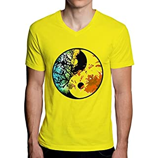 Jing Jang Logo Tree Men's V-Neck T-Shirt XX-Large