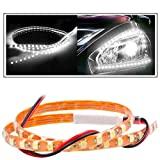 2 Pc. Vheelocityin 45 cm Waterproof Flexible Tube Strip Car Interior/ Exterior Light Motorcycle LED Light - White