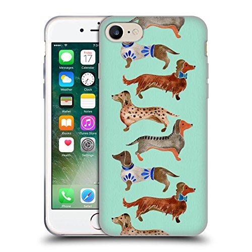 Offizielle Cat Coquillette Dackel Tiere Soft Gel Hülle für Apple iPhone 5 / 5s / SE Dackel Blau