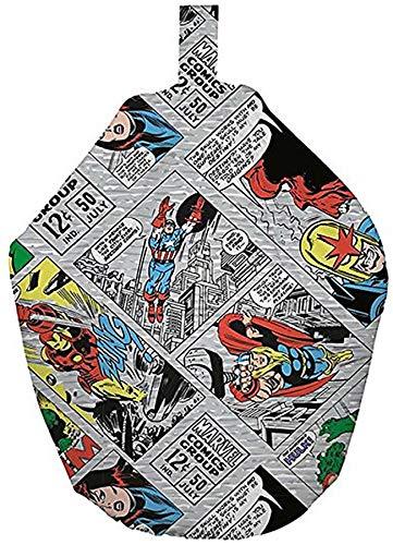 Marvel Comics Retro Diseño puf, Tejido, Gris, 52x 38x 52cm