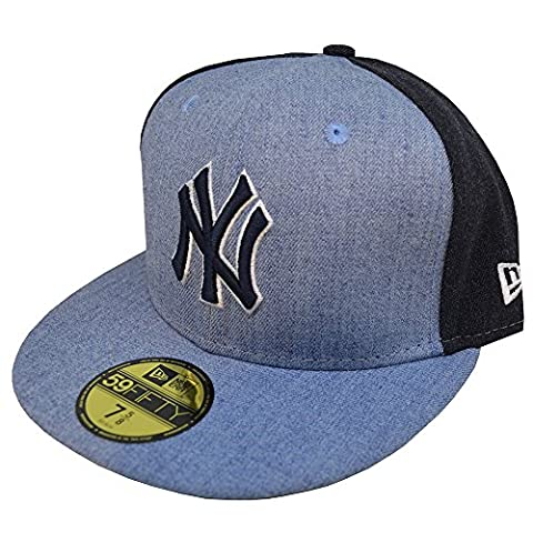 New Era 59Fifty Cap - HEATHER New York Yankees sky - 7 1/8 (Sky Heather)
