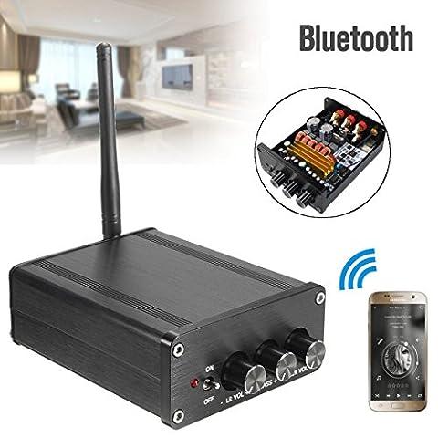 ELEGIANT Mini Hifi Amplificateur Numerique Bluetooth 4.0 Audio Home Cinéma Class D Digital 2.1 CRS 2*50W+100W Pour iPhone Ipod PC MP3 etc
