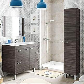 Mueble de Baño con Espejo + Lavabo de ABS , Griferia incluida, Mod Friday