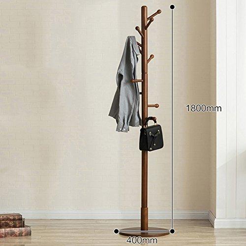SWEET&HONEY Tuch hanger rack ständer Baum hut bügel halter Frei stehend Massivem holz garderobe Stock hanger Für schlafzimmer Wohnzimmer Halle 10 haken-A 40x180cm(16x71inch) (Eigentumswohnung Baum, Haus,)