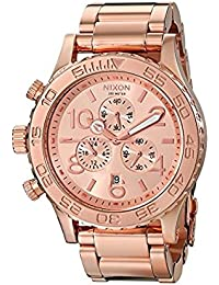 Nixon 42/20 Reloj para Unisex Analógico de Cuarzo con Brazalete de Acero Inoxidable bañado