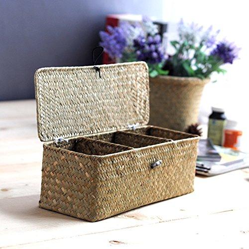 Mare erba scatola portaoggetti con coperchio/ scatole ordinamento disordine sulla scrivania/ gioiello/ scatola di immagazzinaggio