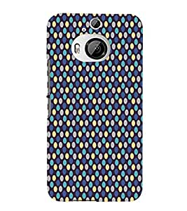 Blue Yellow Dots Pattern 3D Hard Polycarbonate Designer Back Case Cover for HTC One M9+ :: HTC One M9 Plus