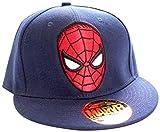 Marvel Spider-Man - Logo-Cappellopello Unisex - Adulto Blu (Navy) Taglia Unica