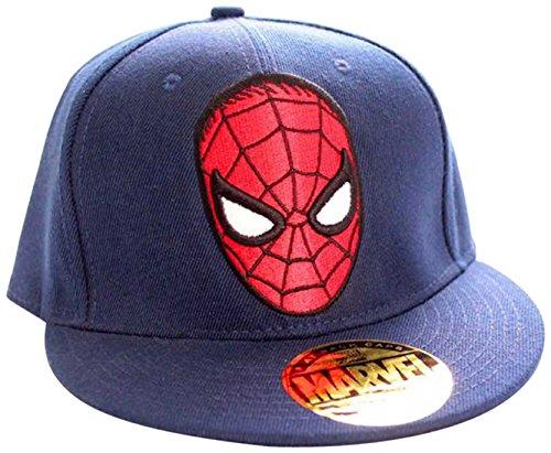 Marvel Spider-Man-Logo Casquette visières, Bleu (Navy), Fabricant: Taille Unique Mixte